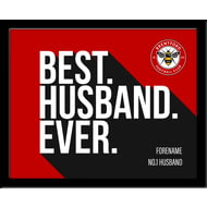 Personalised Brentford Best Husband Ever 10x8 Photo Framed