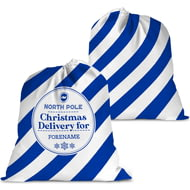 Personalised Brighton & Hove Albion FC Christmas Delivery Santa Sack