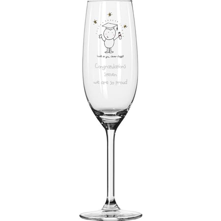 Personalised Chilli & Bubble's Graduation Glass Champagne Flute