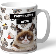 Personalised Grumpy Cat - Grumpy Is My Job Emoji Mug