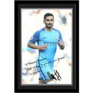 Personalised Manchester City FC Gundogan Autograph Photo Framed