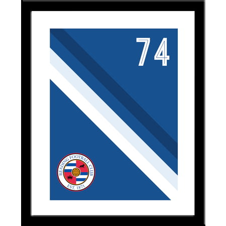 Personalised Reading FC Stripe Framed Print