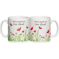 Personalised Tea Lovers Ceramic Mug - Poppy Flower Design