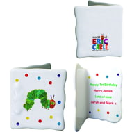 Personalised Very Hungry Caterpillar Ceramic Message Card