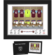Personalised West Ham United FC Goalkeeper Dressing Room Shirts Photo Folder