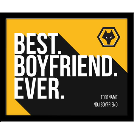 Personalised Wolves FC Best Boyfriend Ever 10x8 Photo Framed