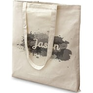 Personalised Splash Cotton Tote Bag