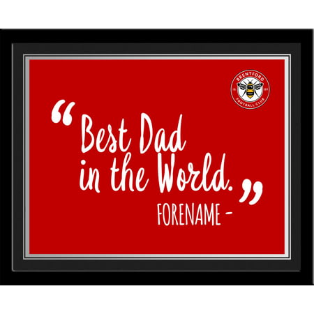 Personalised Brentford Best Dad In The World 10x8 Photo Framed