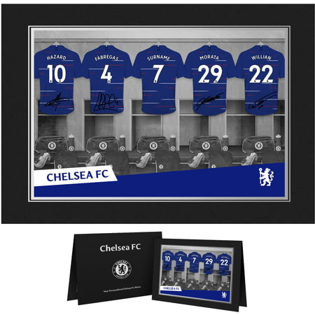 Personalised Chelsea FC 9x6 Dressing Room Shirts Photo Folder