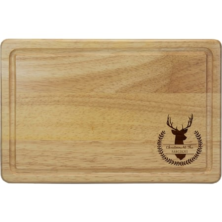 Personalised Stag Rectangular Chopping Board