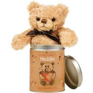 Personalised Valentine's Day Teddy In A Tin - Heart