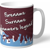 Personalised West Ham United FC Legend Mug
