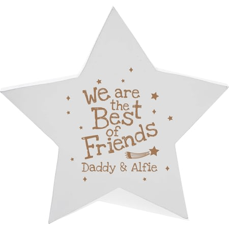 Personalised Best Of Friends Wooden Star