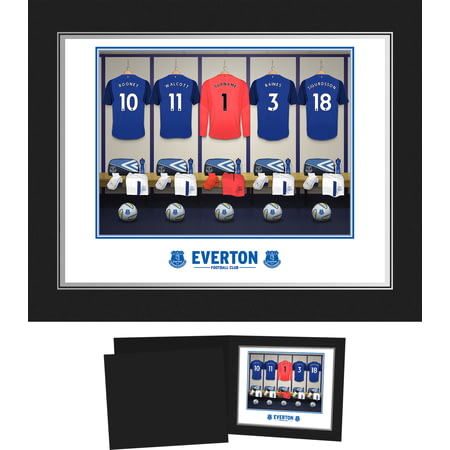 Personalised Everton FC Goalkeeper Dressing Room Shirts Photo Folder