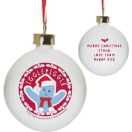 Personalised In The Night Garden Igglepiggle Snowtime Ceramic Bauble