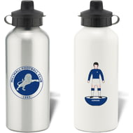 Personalised Millwall FC Player Figure Aluminium Sports Water Bottle
