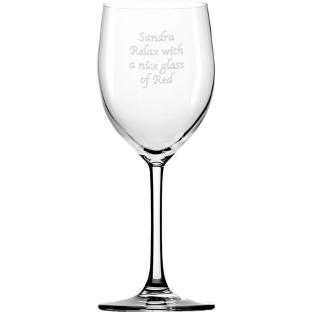 Personalised Engraved Wine Glass - Any Message