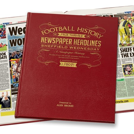Personalised Sheffield Wednesday Football Newspaper Book