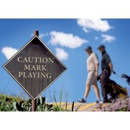 Personalised Caution You're Playing Golf Poster