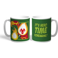Personalised Ben 10 Heatblast Flat Hero Time Mug