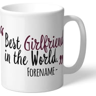 Personalised Burnley FC Best Girlfriend In The World Mug