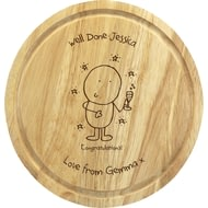Personalised Chilli & Bubble's Congratulations Round Chopping Board