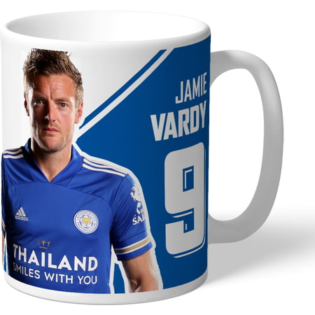 Personalised Leicester City Vardy 11 In A Row Mug