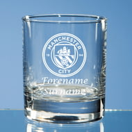 Personalised Manchester City FC Crest Whisky Glass