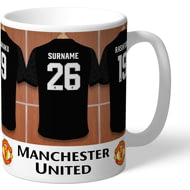 Personalised Manchester United FC Away Dressing Room Shirts Mug