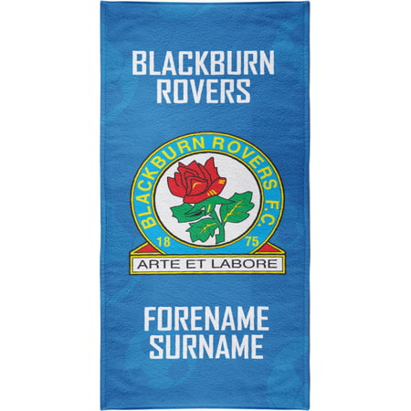 Personalised Blackburn Rovers FC Crest Bath Towel - 80cm X 160cm