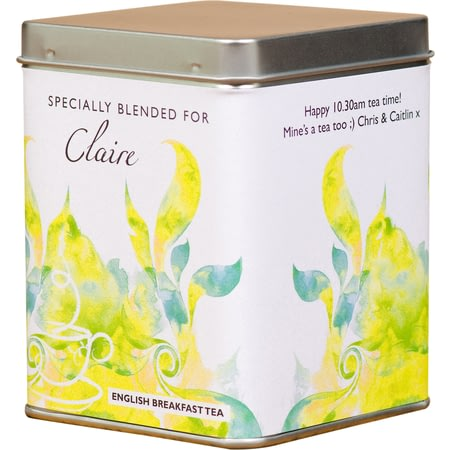 Personalised Tea Bags In Tin Modern Design