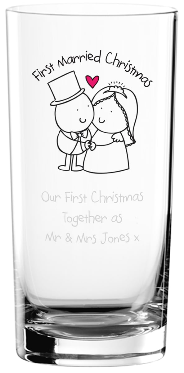 buy your personalised chilli bubble s first married christmas hi