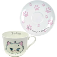 Personalised Nina Kitten Tea Is Always A Good Idea Tea Cup & Saucer