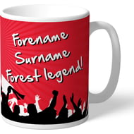 Personalised Nottingham Forest FC Legend Mug