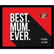 Personalised Sunderland AFC Best Mum Ever 10x8 Photo Framed