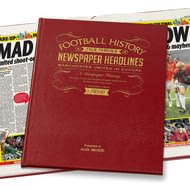 Personalised Manchester Utd In Europe Football History Newspaper Book - Leather Cover