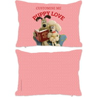 Personalised Wallace And Gromit Puppy Love Rectangle Cushion - 45x30cm
