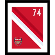 Personalised Arsenal FC Stripe Framed Print