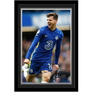 Personalised Chelsea FC Mount Autograph Photo Framed