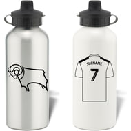 Personalised Derby County Shirt Aluminium Sports Water Bottle