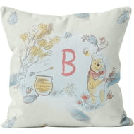 Personalised Winnie The Pooh Initial Cushion - 45x45cm