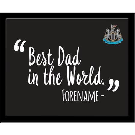 Personalised Newcastle United Best Dad In The World 10x8 Photo Framed