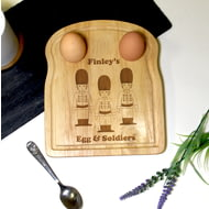 Personalised Wooden Egg And Soilders Board