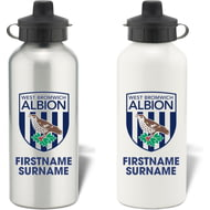 Personalised West Bromwich Albion FC Bold Crest Aluminium Sports Water Bottle