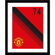 Personalised Manchester United Stripe Framed Print