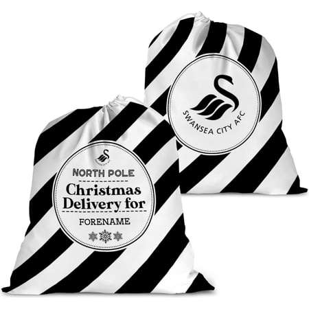 Personalised Swansea City AFC Christmas Delivery Santa Sack