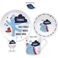 Personalised Iggle Piggle Ceramic 4 Piece Breakfast Set
