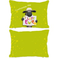 Personalised Shaun The Sheep Valentines Print Rectangle Cushion - 45x30cm