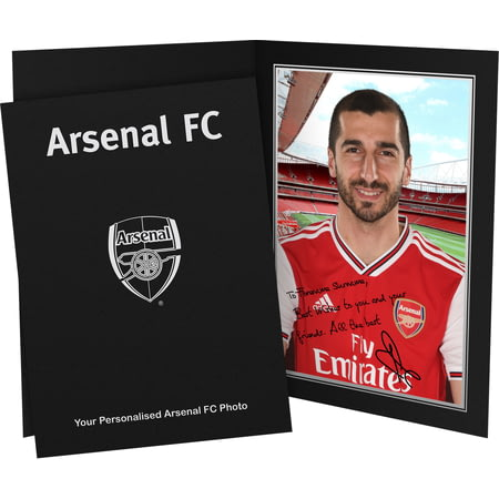 Personalised Arsenal FC Mkhitaryan Autograph Photo Folder