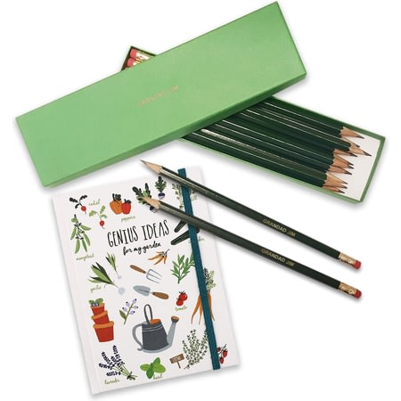Personalised Gardeners Notebook And Personalised Pencils